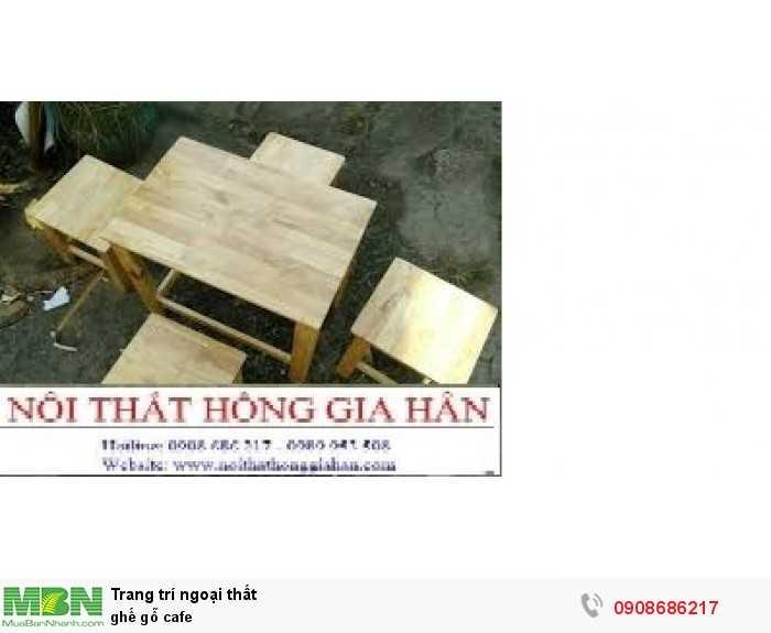Ghế gỗ cafe0