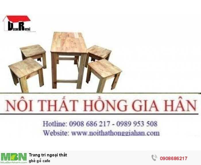 Ghế gỗ cafe1
