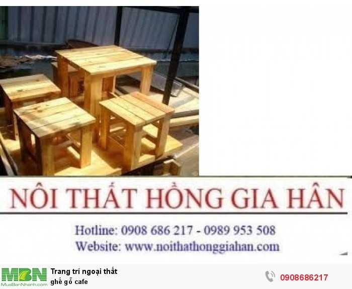 Ghế gỗ cafe2