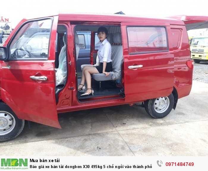 Giá xe bán tải dongben X30 495kg 5 chỗ ngồi vào thành phố Ô Tô Phú Mẫn khuyến mãi ngay tỳ hưu tài lộc bằng vàng 2