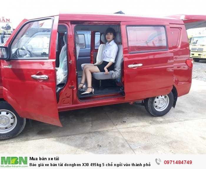 Giá xe bán tải dongben X30 495kg 5 chỗ ngồi vào thành phố Ô Tô Phú Mẫn khuyến mãi ngay tỳ hưu tài lộc bằng vàng 3