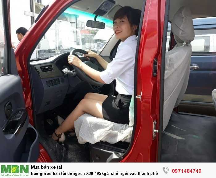 Giá xe bán tải dongben X30 495kg 5 chỗ ngồi vào thành phố Ô Tô Phú Mẫn khuyến mãi ngay tỳ hưu tài lộc bằng vàng 11