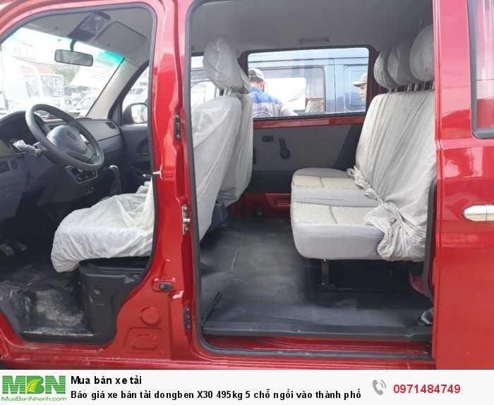 Giá xe bán tải dongben X30 495kg 5 chỗ ngồi vào thành phố Ô Tô Phú Mẫn khuyến mãi ngay tỳ hưu tài lộc bằng vàng 12