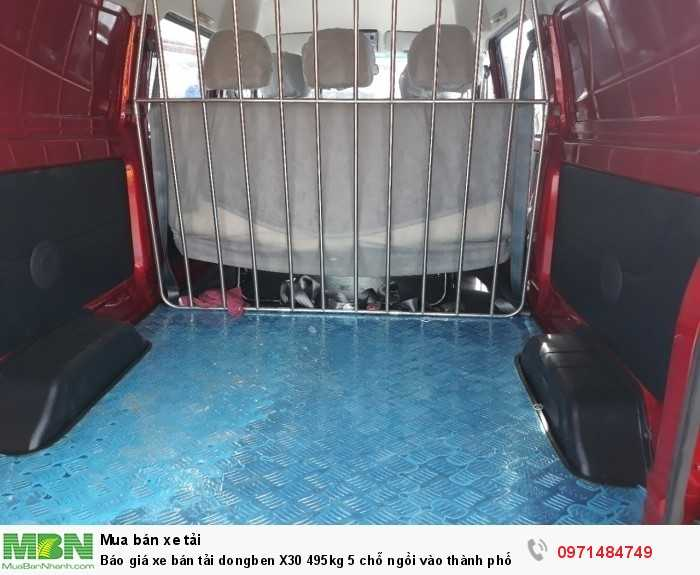 Giá xe bán tải dongben X30 495kg 5 chỗ ngồi vào thành phố Ô Tô Phú Mẫn khuyến mãi ngay tỳ hưu tài lộc bằng vàng 13