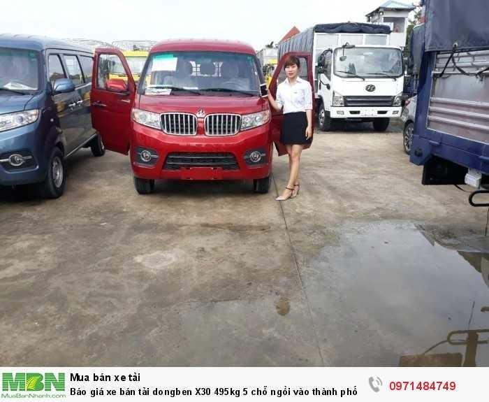 Giá xe bán tải dongben X30 495kg 5 chỗ ngồi vào thành phố Ô Tô Phú Mẫn khuyến mãi ngay tỳ hưu tài lộc bằng vàng 15