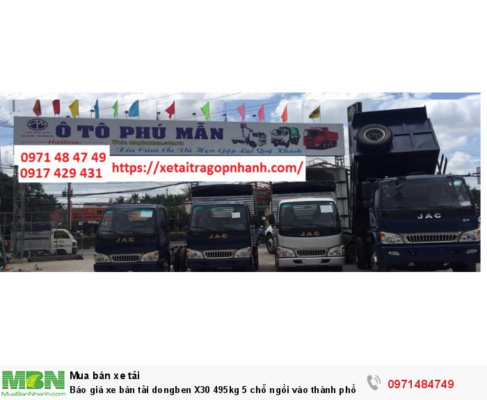 Báo giá xe bán tải dongben X30 495kg 5 chỗ ngồi vào thành phố tặng tỳ hưu tài lộc bằng vàng 17