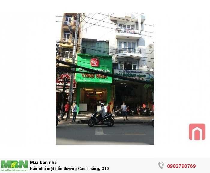 Bán nhà mặt tiền đường Cao Thắng, Q10