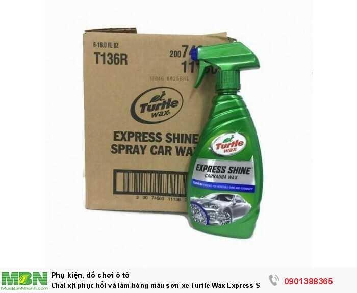 Ngoài ra, Turtle Wax Express Shine còn cung cấp một màng chống UV, bảo vệ xe khỏi những tia sáng tiêu cực, duy trì màu sắc nguyên thủy của xe, hạn chế hiện tượng rạn nứt và bạc màu sơn xe dưới tác động của ánh sáng mặt trời.