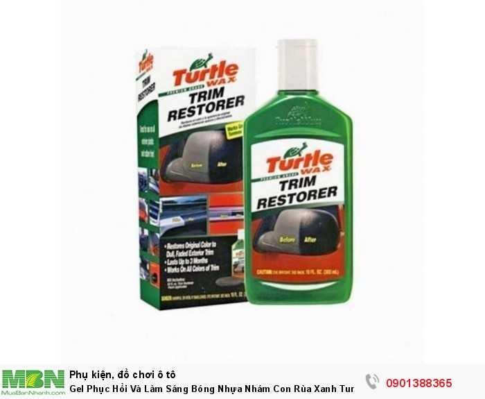 Dung dịch phục hồi nhựa đen, nhựa nhám Turtle Wax con rùa xanh là sản phẩm chăm sóc xe hàng đầu từ Mỹ, sử dụng cho cả ô tô và xe máy.