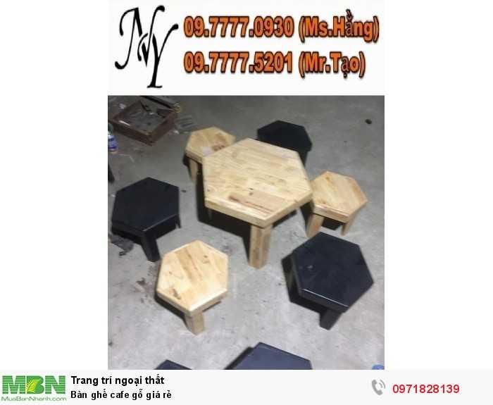 Bàn ghế cafe gỗ giá rẻ0