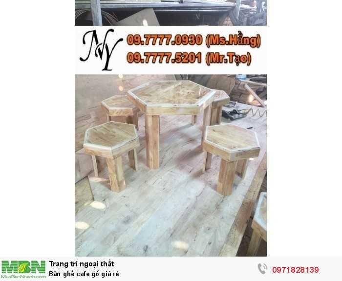 Bàn ghế cafe gỗ giá rẻ2