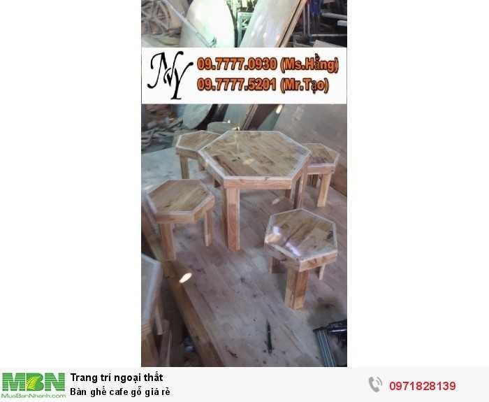 Bàn ghế cafe gỗ giá rẻ3