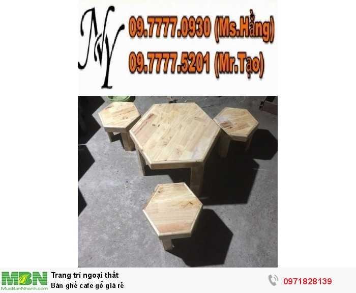 Bàn ghế cafe gỗ giá rẻ4
