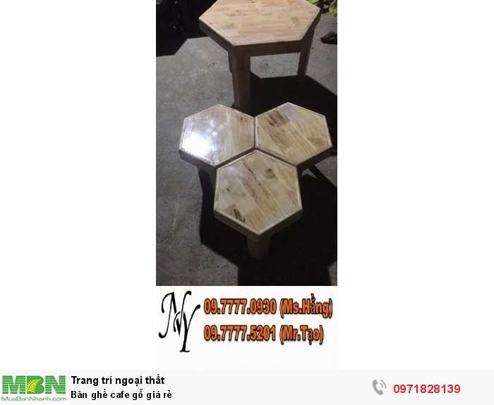 Bàn ghế cafe gỗ giá rẻ5