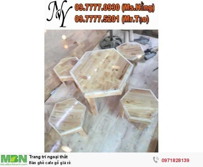 Bàn ghế cafe gỗ giá rẻ6