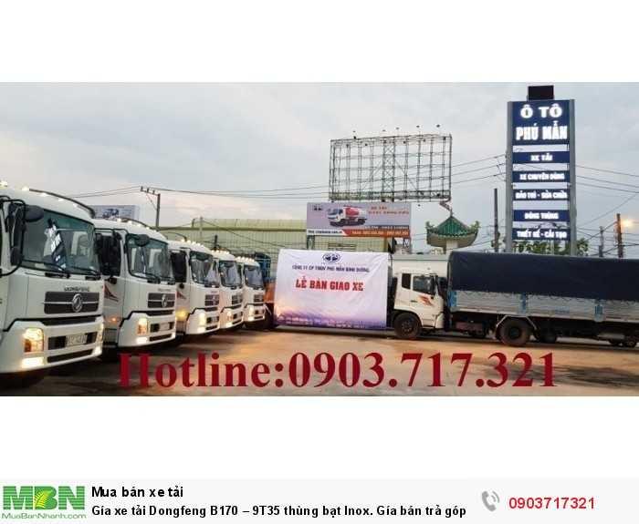 Gía xe tải Dongfeng B170 – 9T35 thùng bạt Inox. 3