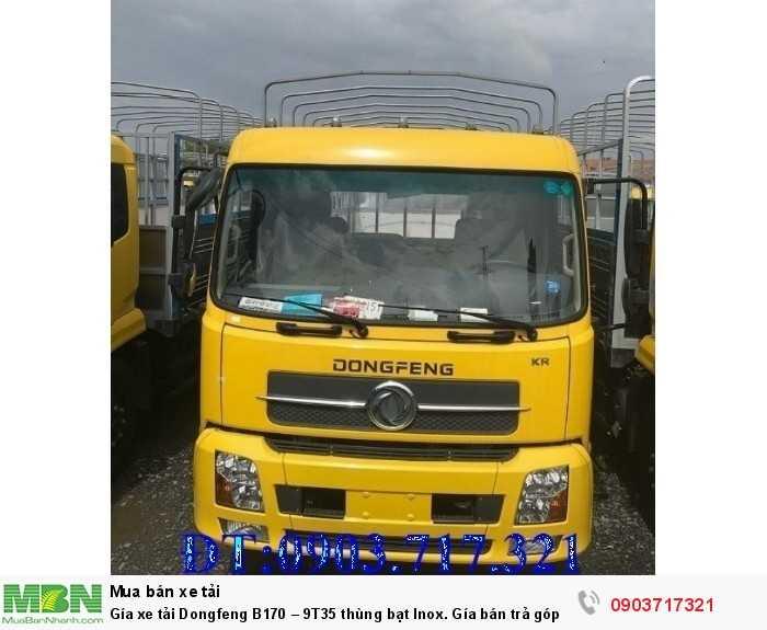 Gía xe tải Dongfeng B170 – 9T35 thùng bạt Inox. 5