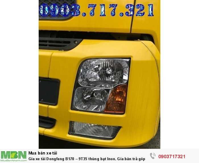 Gía xe tải Dongfeng B170 – 9T35 thùng bạt Inox. 6