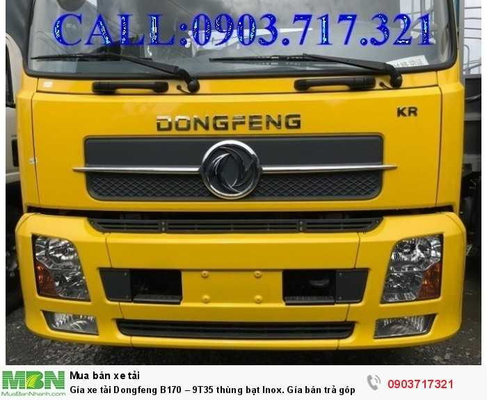 Gía xe tải Dongfeng B170 – 9T35 thùng bạt Inox. 7