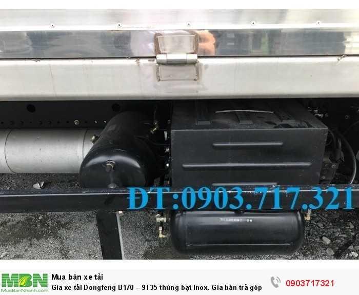 Gía xe tải Dongfeng B170 – 9T35 thùng bạt Inox. 8
