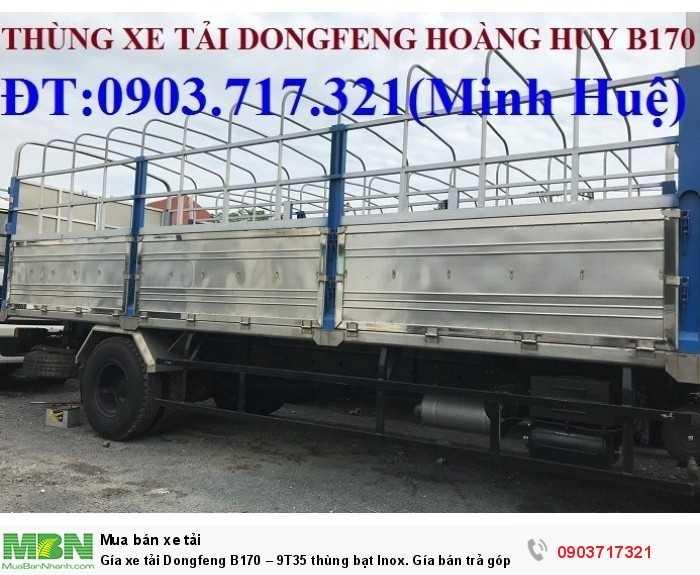 Gía xe tải Dongfeng B170 – 9T35 thùng bạt Inox. 9