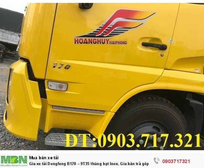Gía xe tải Dongfeng B170 – 9T35 thùng bạt Inox. 10