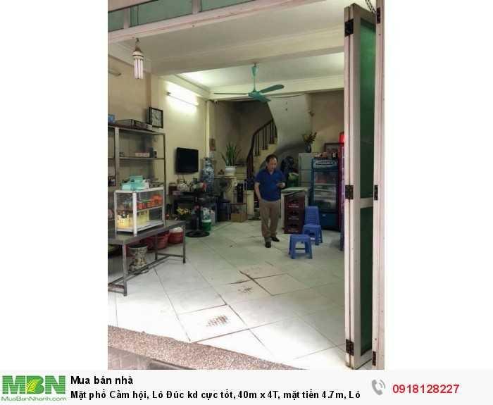Mặt phố Cảm hội, Lò Đúc kd cực tốt, 40m x 4T, mặt tiền 4.7m, Lô góc