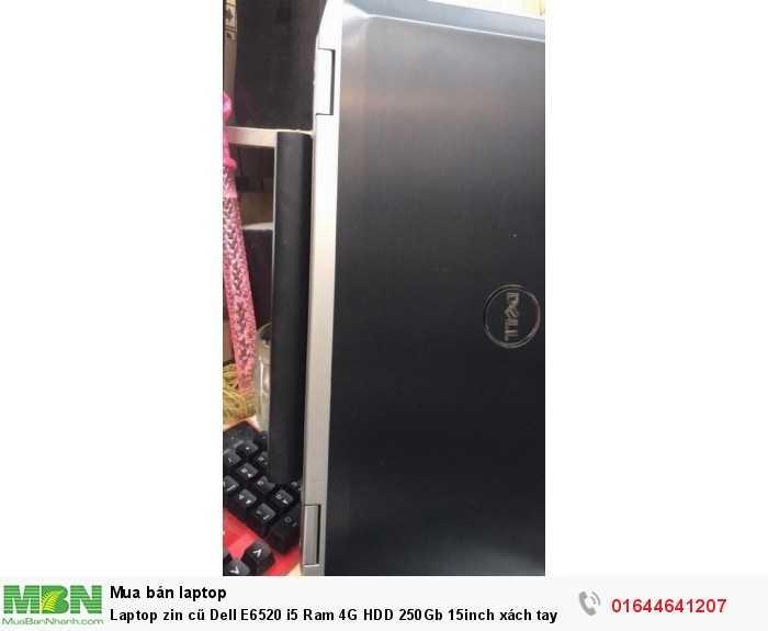 Laptop zin cũ Dell E6520 i5 Ram 4G HDD 250Gb 15inch xách tay Mỹ4