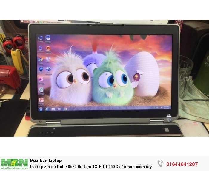 Laptop zin cũ Dell E6520 i5 Ram 4G HDD 250Gb 15inch xách tay Mỹ3
