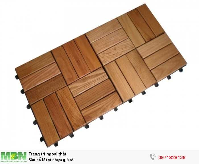 Sàn gỗ lót vỉ nhựa giá rẻ0