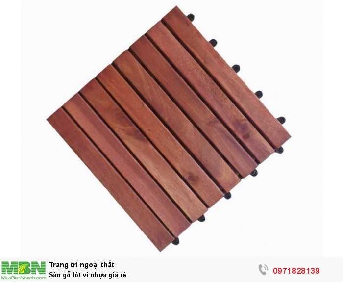Sàn gỗ lót vỉ nhựa giá rẻ1