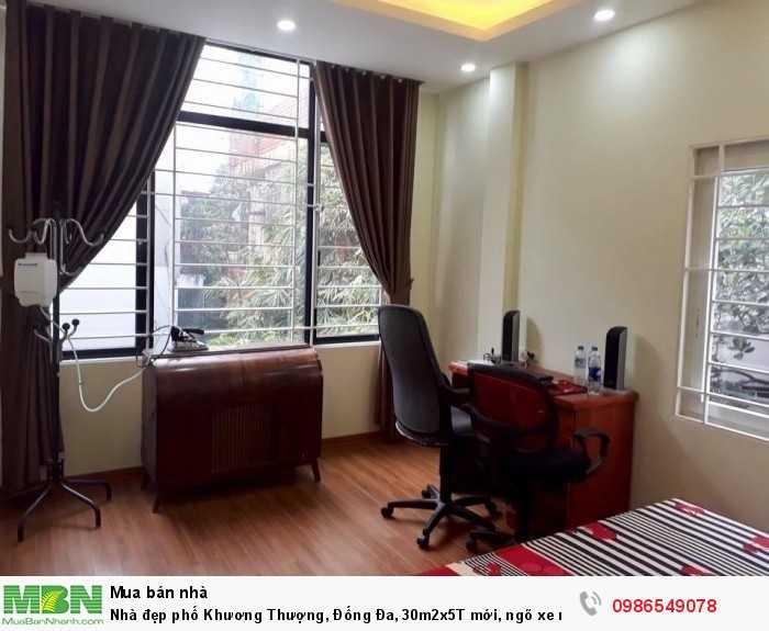 Nhà đẹp phố Khương Thượng, Đống Đa, 30m2x5T mới, ngõ xe máy nhắm mắt đua nhau