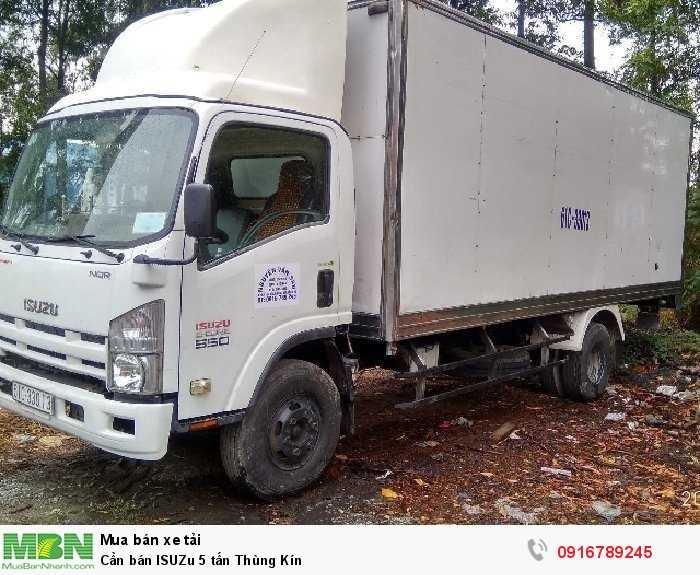 Cần bán ISUZu 5 tấn Thùng Kín