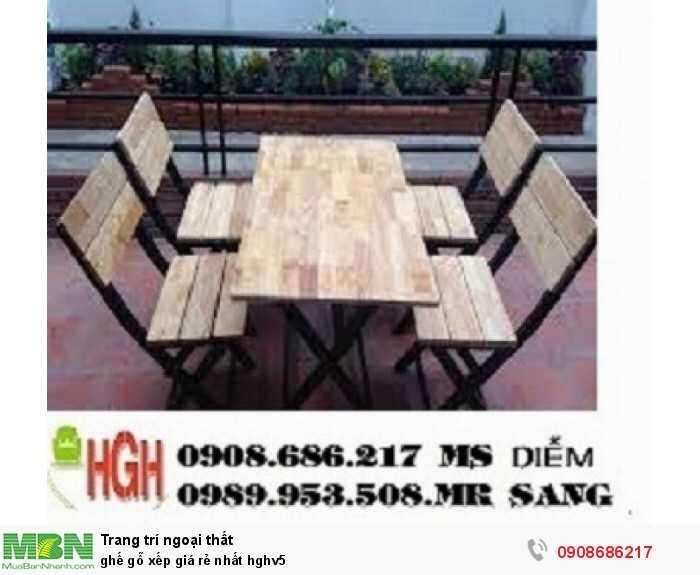 Ghế gỗ xếp giá rẻ nhất hghv50