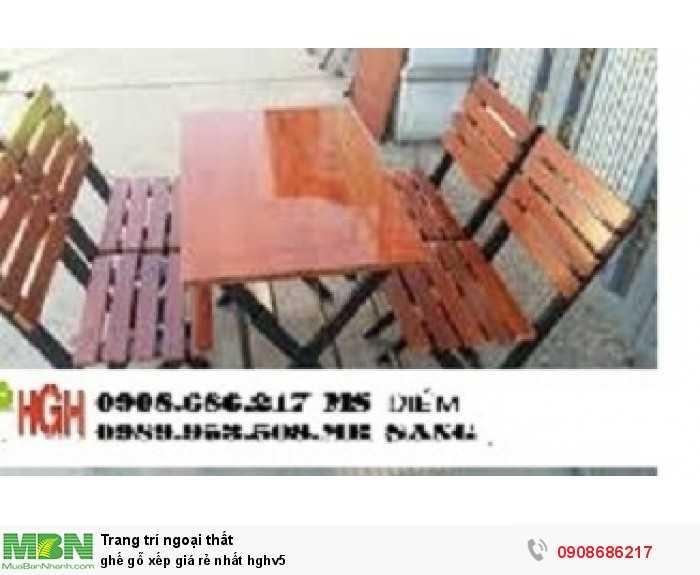 Ghế gỗ xếp giá rẻ nhất hghv51