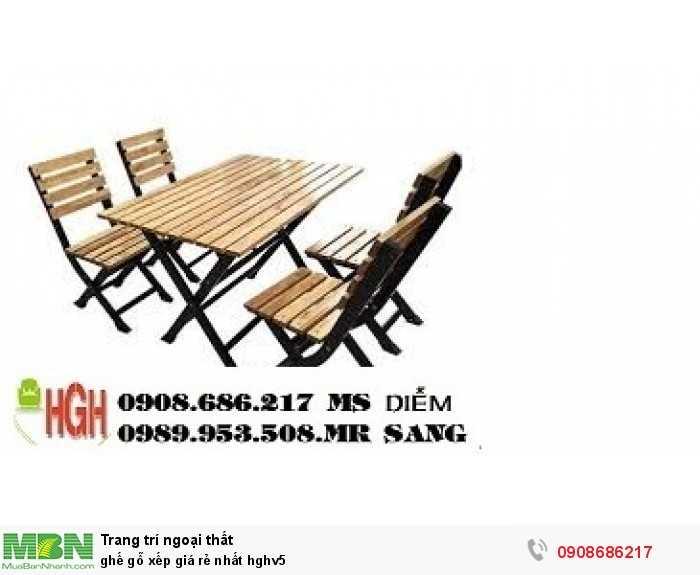 Ghế gỗ xếp giá rẻ nhất hghv52