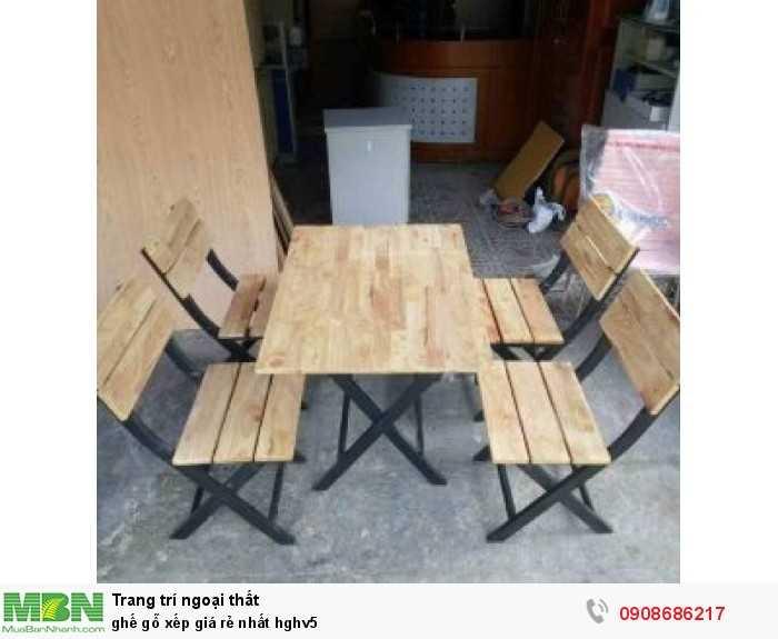 Ghế gỗ xếp giá rẻ nhất hghv53