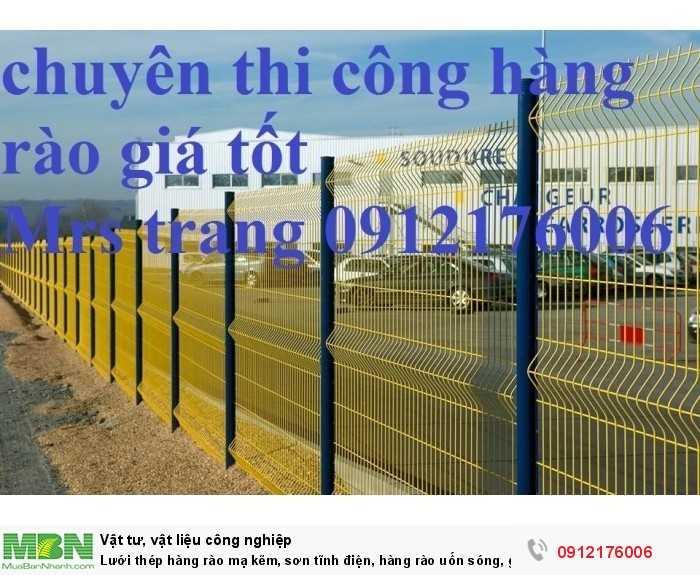 Lưới thép hàng rào mạ kẽm sơn tĩnh điện giá tốt nhất tại Hà Nội