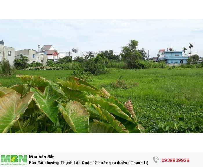 Bán đất phường Thạnh Lộc Quận 12 hướng ra đường Thạnh Lộc 27 và đường Hà Huy Giáp 2000m2 đất 2 mặt tiền, cách cầu vượt Ngã Tư Ga