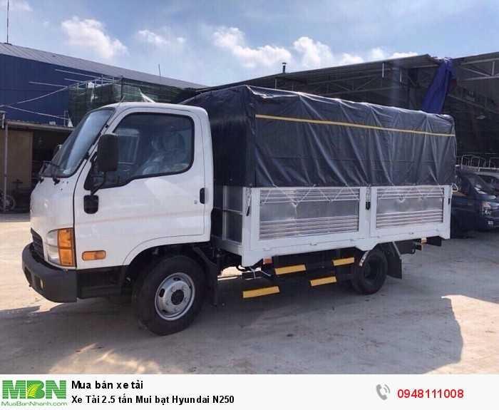 Xe Tải 2.5 tấn Mui bạt Hyundai N250