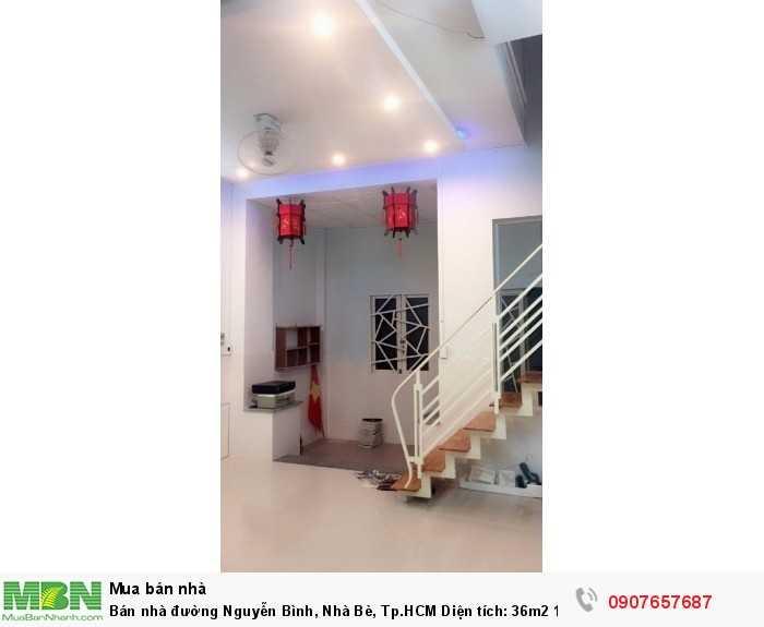 Bán nhà đường Nguyễn Bình, Nhà Bè, Tp.HCM Diện tích: 36m2 1 trệt 1 lầu