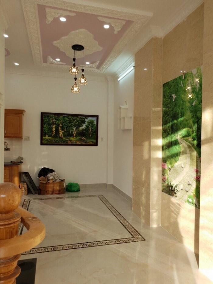 Bán gấp biệt thự 2 mặt tiền 6m Huỳnh Tấn Phát, 3 tầng, 4 phòng ngủ