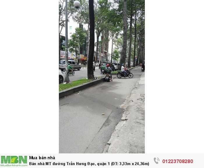 Bán nhà MT đường Trần Hưng Đạo, quận 1 (DT: 3,33m x 24,36m)