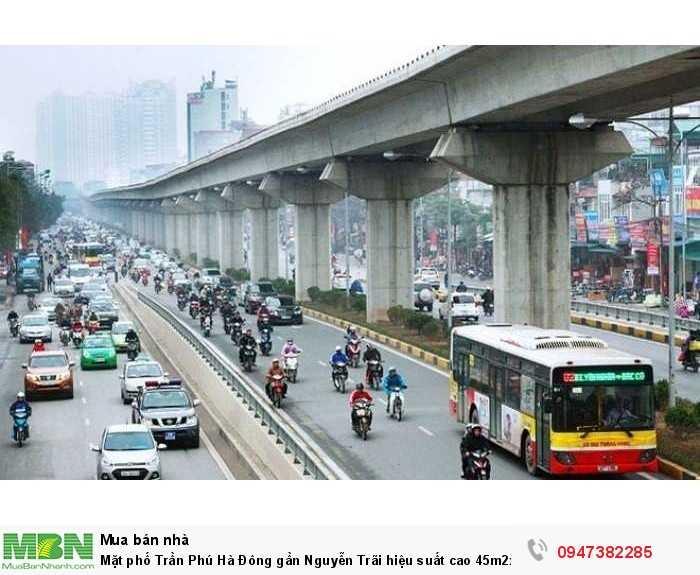 Mặt phố Trần Phú Hà Đông gần Nguyễn Trãi hiệu suất cao 45m2x3T mặt tiền 4m