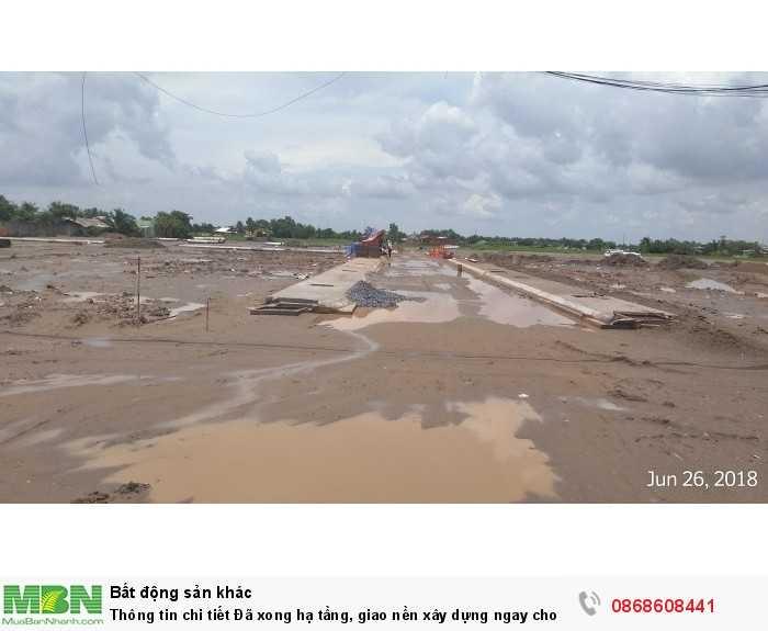 Thông tin chi tiết Đã xong hạ tầng, giao nền xây dựng ngay cho KH khi công chứng...