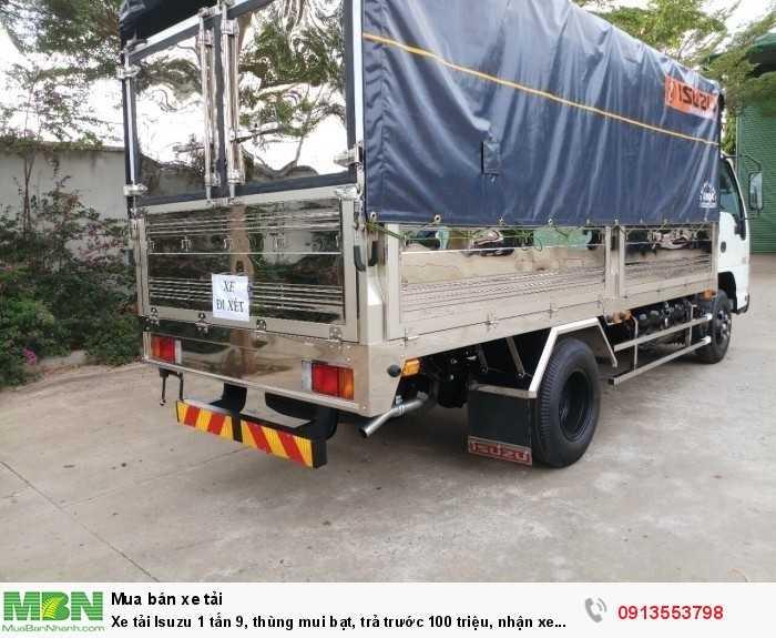 Xe tải Isuzu 1 tấn 9, thùng mui bạt, trả trước 100 triệu, nhận xe ngay - Hotline: 0913553798 (24/24)