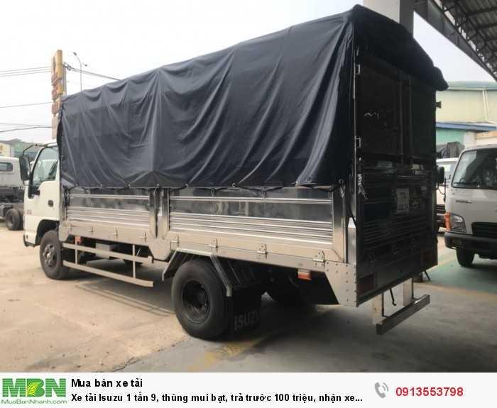 Xe tải Isuzu 1 tấn 9, thùng mui bạt, nhận xe ngay - Hotline: 0913553798 (24/24)