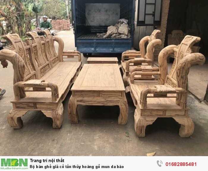 Bộ bàn ghế giả cổ tần thủy hoàng gỗ mun da báo10