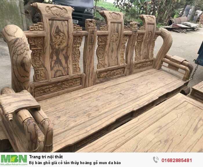 Bộ bàn ghế giả cổ tần thủy hoàng gỗ mun da báo11
