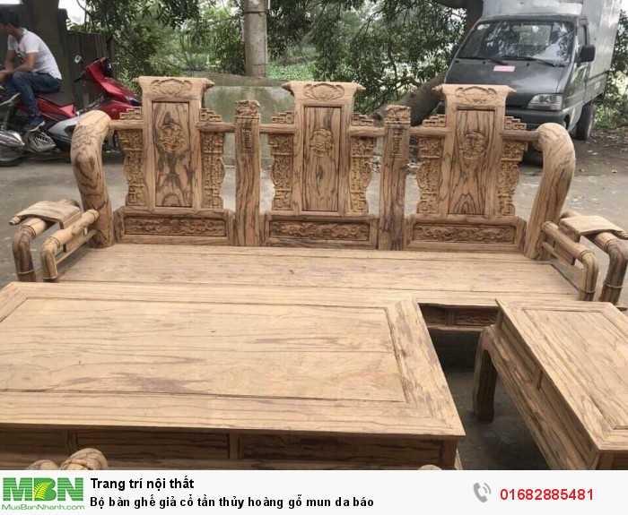 Bộ bàn ghế giả cổ tần thủy hoàng gỗ mun da báo12